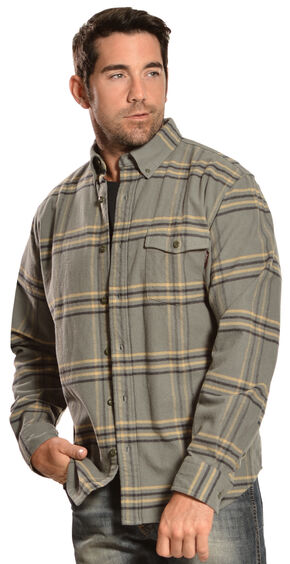 Woolrich Tiadaghton Field Grey Plaid Shirt, Grey, hi-res
