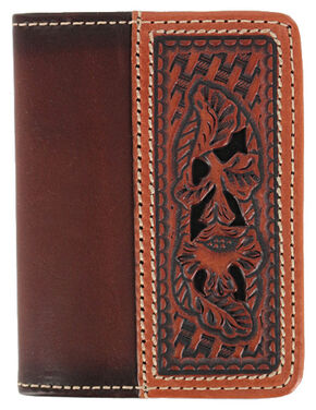 Cody James Men's Tooled Wallet, Brown, hi-res