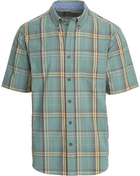 Woolrich Men's Juniata Short Sleeve Shirt, Silver, hi-res