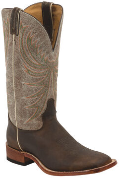 Tony Lama Copper Roughrider Americana Cowboy Boots - Square Toe , , hi-res