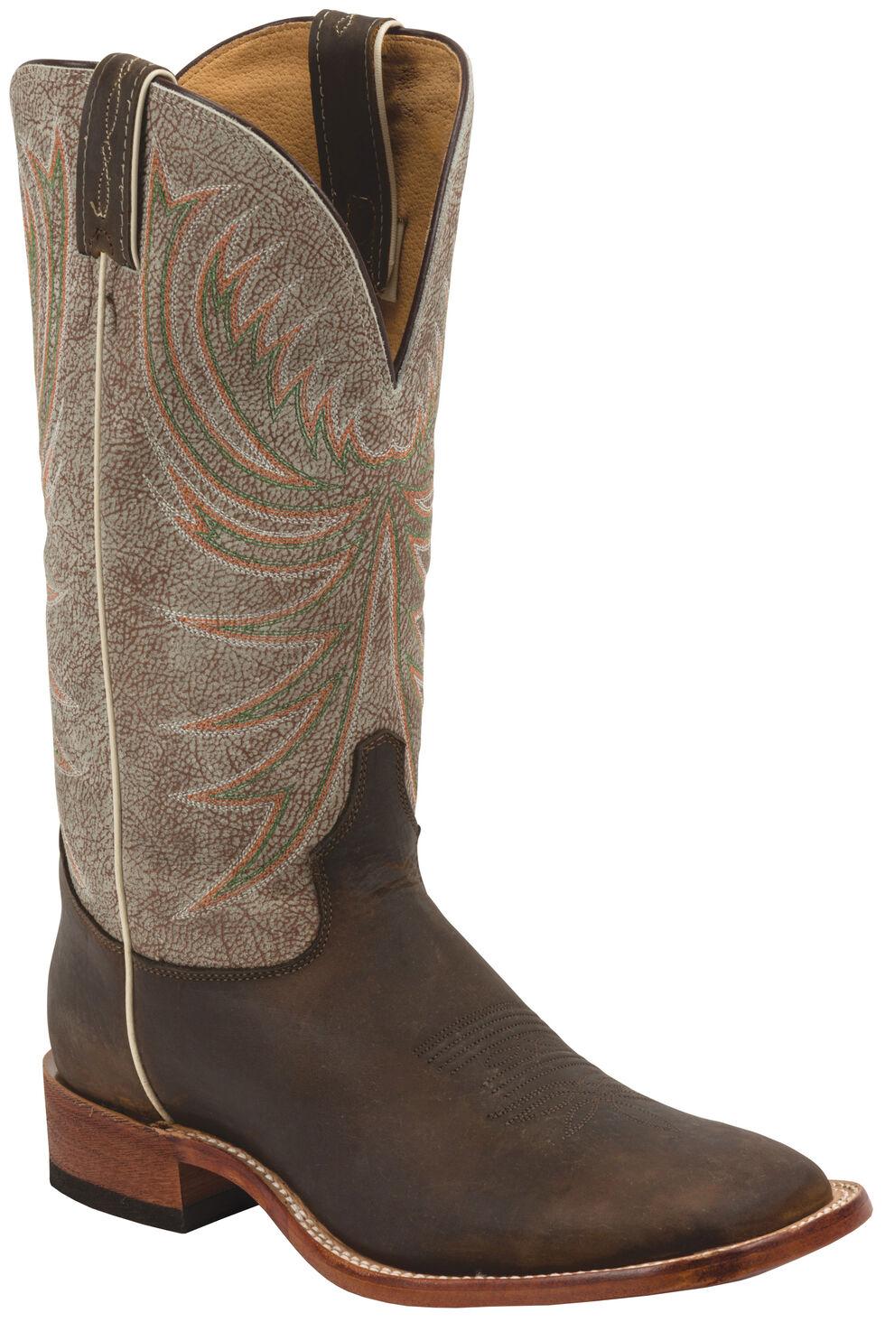 Tony Lama Copper Roughrider Americana Cowboy Boots - Square Toe , Cognac, hi-res