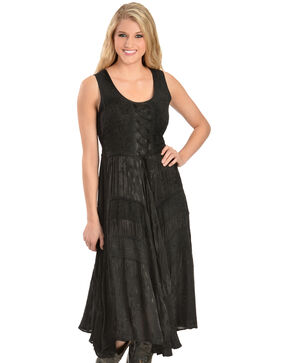 Scully Women's Lace-Up Jacquard Dress, Black, hi-res