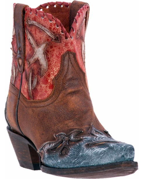 Dan Post Women's Love Bird Boots - Snip Toe , Brown, hi-res