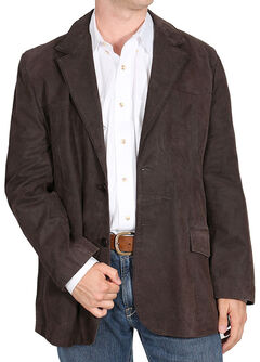 Cody James Dark Brown Men's Blazer - Long, Dark Brown, hi-res