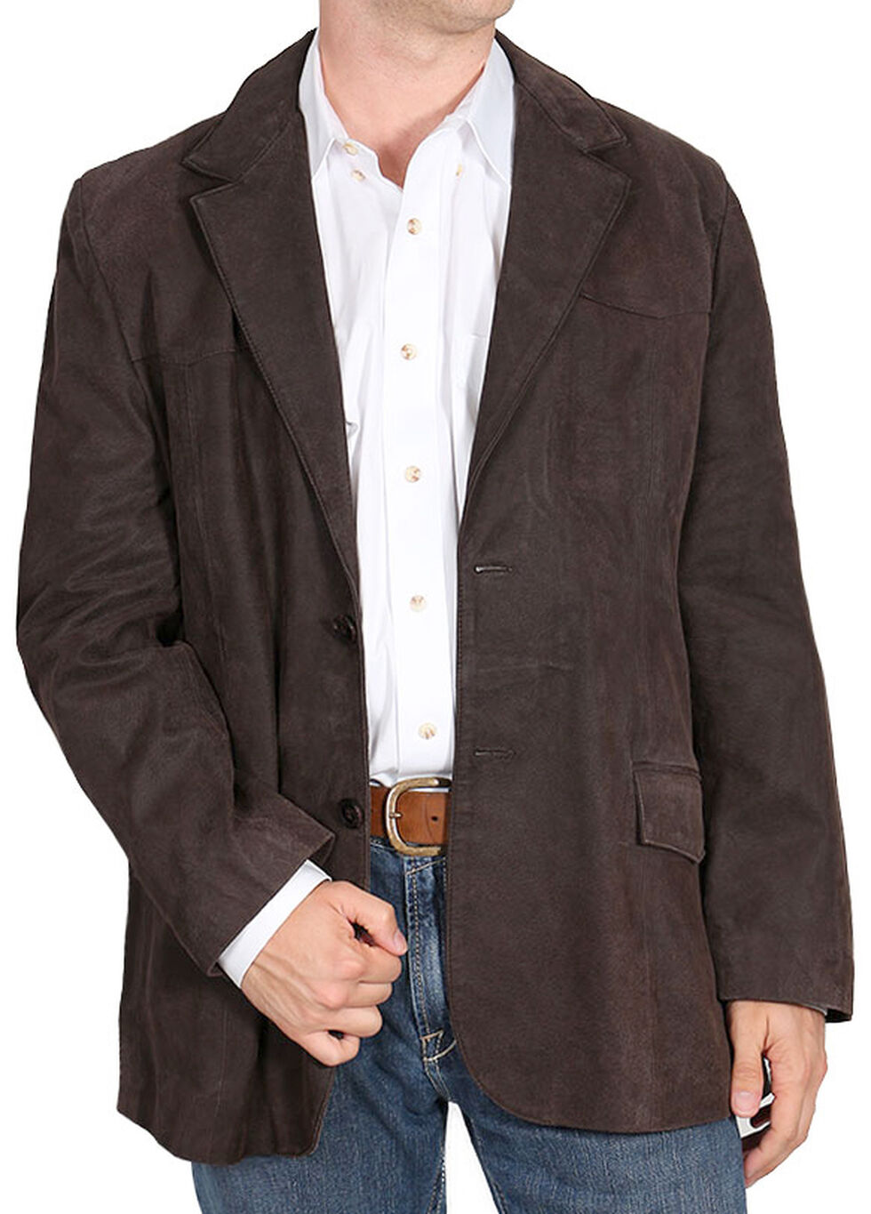 Cody James Men's Blazer - Long, Dark Brown, hi-res