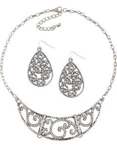 Shyanne Women's Swirl Jewelry Set, Silver, hi-res