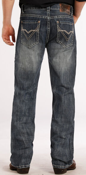 Rock and Roll Cowboy Double Barrel Relaxed Fit ZigZag Jeans - Straight Leg , Denim, hi-res