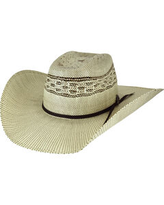 Bailey Men's Shandrach Straw Western Hat, Natural, hi-res