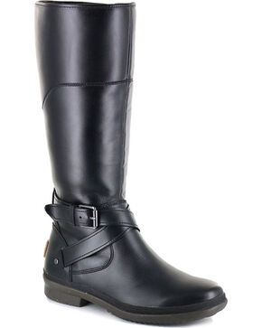 UGG Women's Black Evanna Waterproof Boots - Round Toe , Black, hi-res