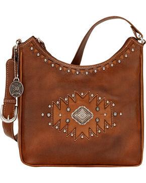 American West Annie's Secret Antique Tan Southwest Hidden Compartment Shoulder Bag, Antique Tan, hi-res