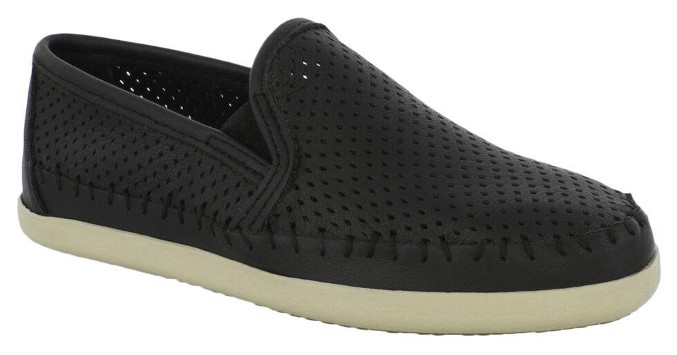 Minnetonka Women's Pacific Slip-On Shoes, Black, hi-res