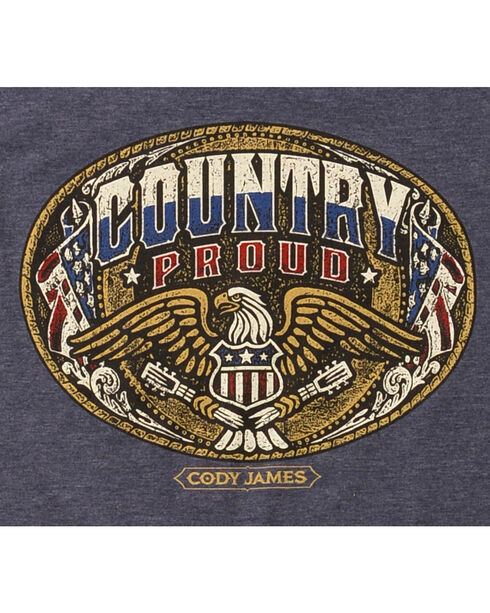 Cody James Men's Country Proud Short Sleeve T-Shirt, Heather Blue, hi-res