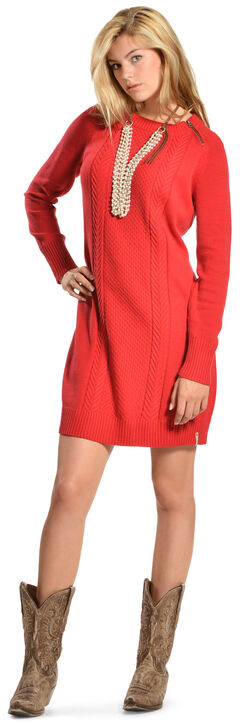 Woolrich Women's Dutch Hollow Sweater Dress, Red, hi-res