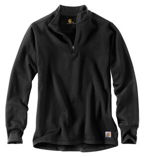 Carhartt Base Force Cold Weather Quarter Zip Sweatshirt, Black, hi-res