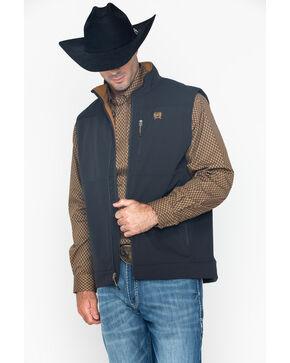 Cinch Men's Solid Black Bonded Vest, Black, hi-res