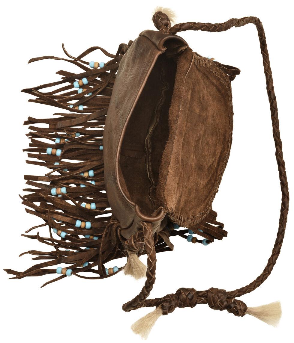 Kobler Leather Tan Rossette Fringe Crossbody Bag, Tan, hi-res