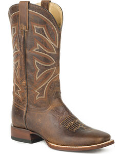 Stetson Men's Brown Chester Western Boots - Square Toe , Brown, hi-res