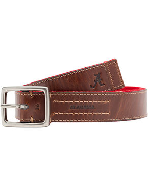 Jack Mason Men's University of Alabama Alumni Reversible Belt , Red, hi-res