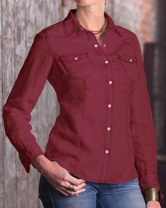 Ryan Michael Women's Harriet Shirt, Brick, hi-res