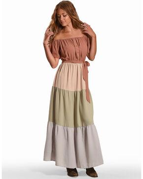 Polagram Women's Off Shoulder Maxi Dress, Multi, hi-res
