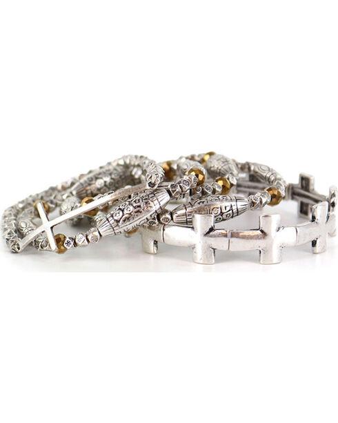 Shyanne Women's Faith Layered Bracelets, Silver, hi-res