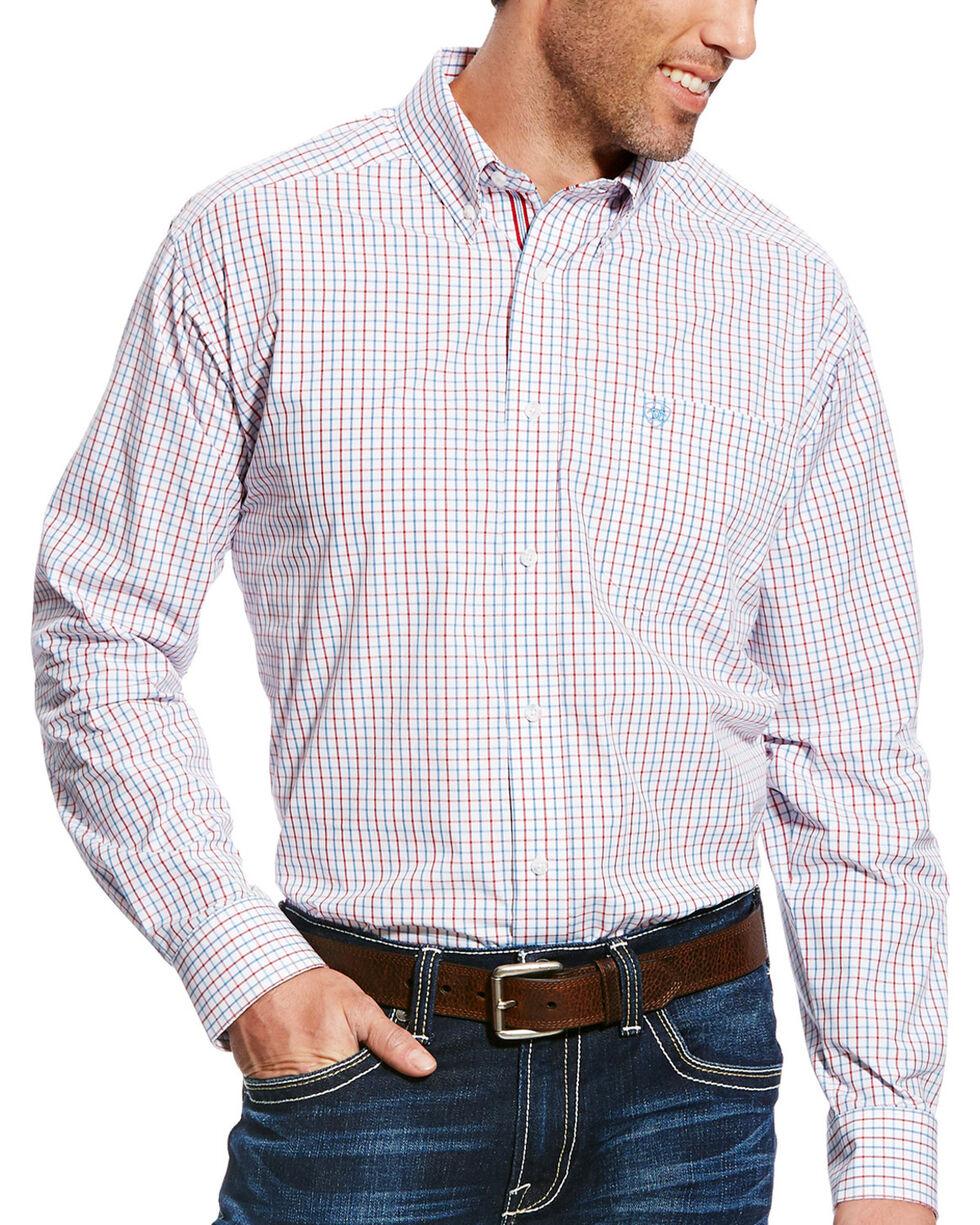 Ariat Men's White Chapman Print Long Sleeve Shirt - Big & Tall , , hi-res
