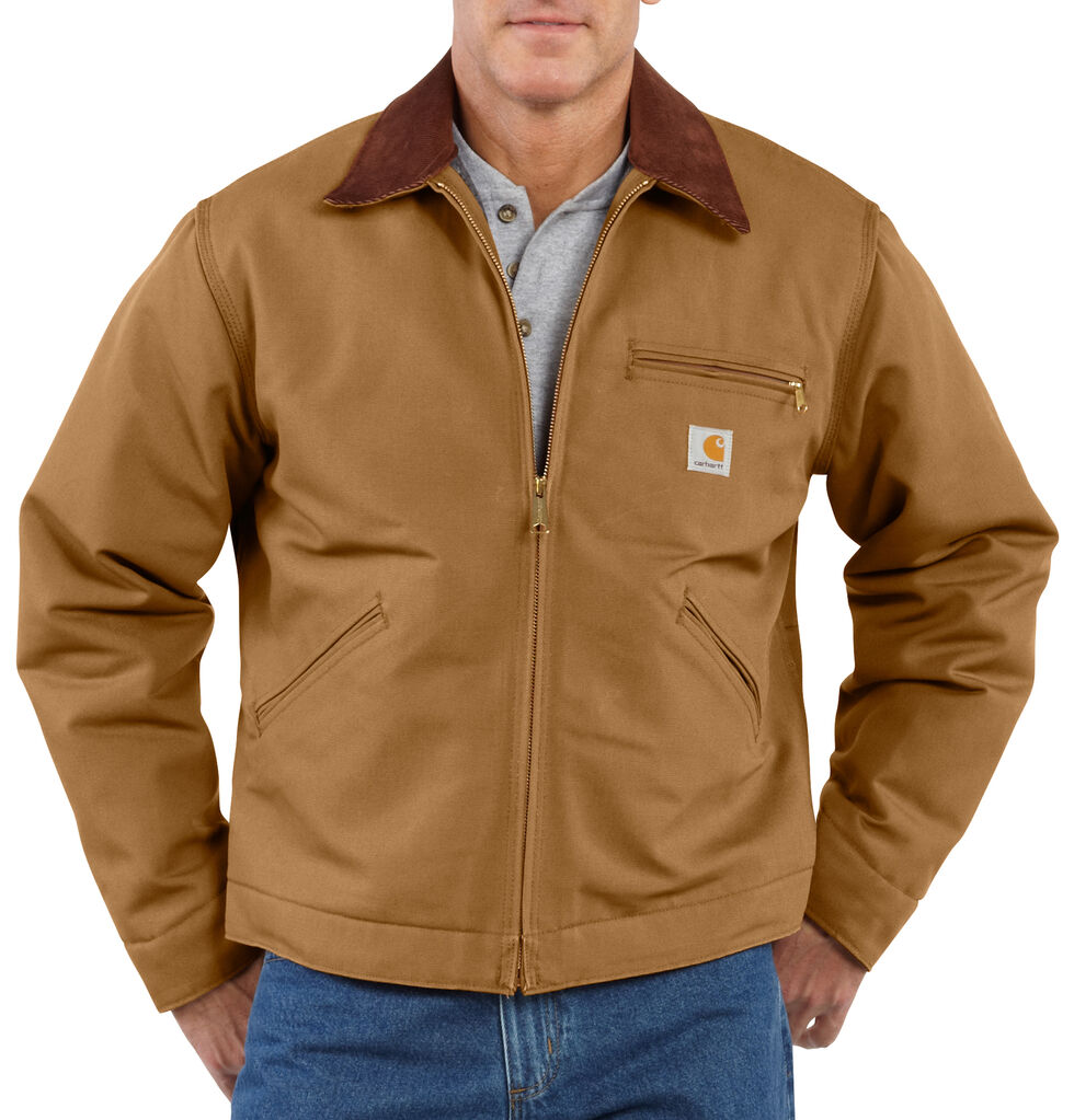 Carhartt Men's Duck Detroit Blanket Lined Canvas Jacket, Carhartt Brown, hi-res