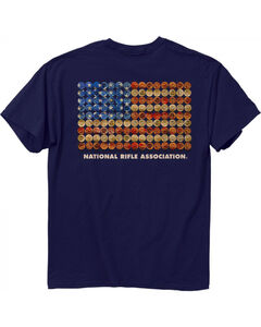 Buck Wear Men's Navy NRA - Shot Gun Flag Tee , Navy, hi-res