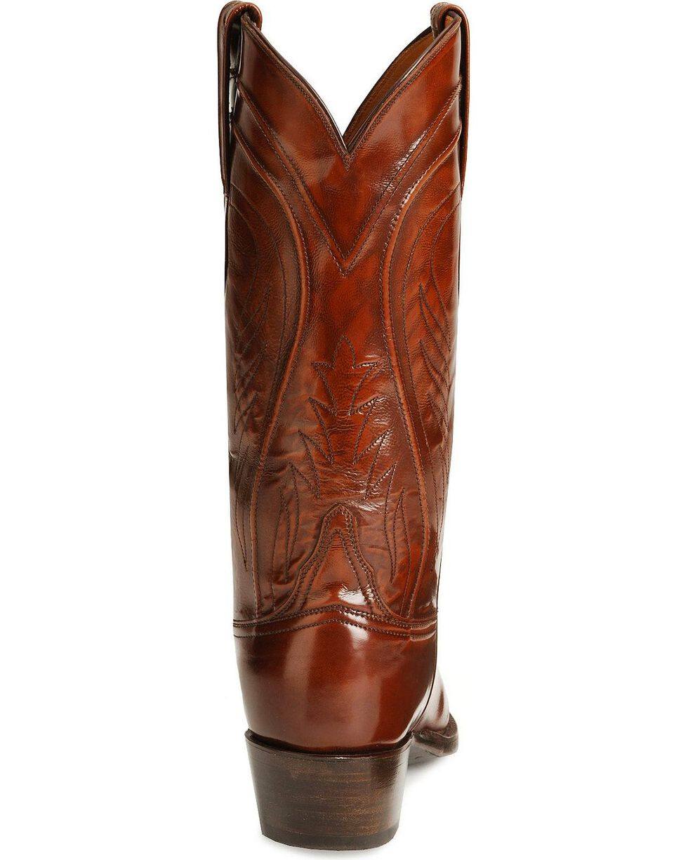Lucchese Handcrafted Classics Seville Goatskin Boots - Square Toe, Tan, hi-res