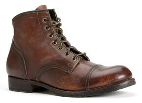 Frye Men's Logan Cap Toe Boots - Round Toe, Whiskey, hi-res