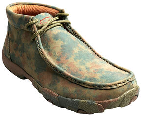 Twisted X Women's Camo Leather Driving Mocs, Camouflage, hi-res