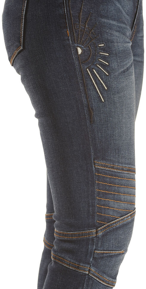 MM Vintage Women's Biker Skinny Stretch Jeans , Indigo, hi-res