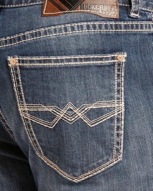 Rock & Roll Cowboy Men's Reflex Double Barrel Jeans - Straight Leg , Blue, hi-res