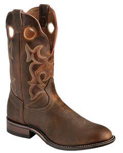 Boulet Super Roper Walnut Boots - Round Toe, , hi-res