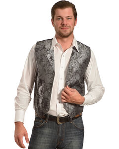 Cody James Men's Paisley Print Western Vest , , hi-res