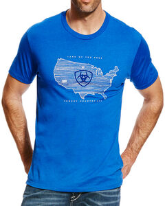 Ariat Men's Stateside T-Shirt, Royal Blue, hi-res