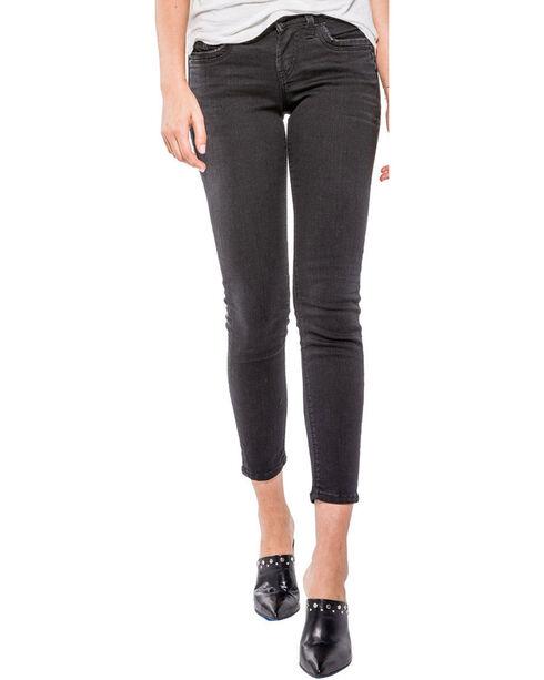 Silver Women's Black Suki Ankle Jeans - Skinny , Black, hi-res