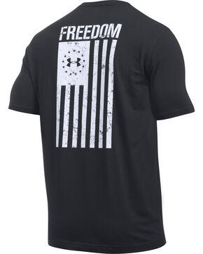 Under Armour Men's UA Freedom Flag Black/White Short Sleeve T-Shirt, Black, hi-res