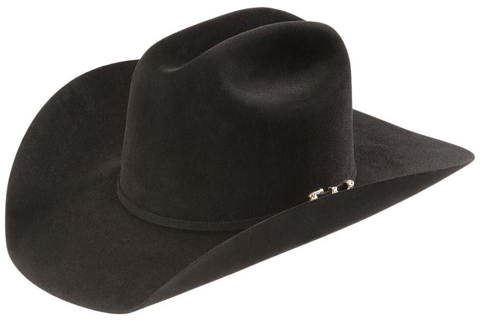 Larry Mahan 20X Pinnacle Fur Felt Western Hat, Black, hi-res
