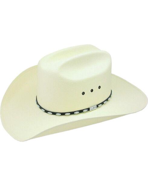 Resistol George Strait Silver Eagle Straw Cowboy Hat, Natural, hi-res