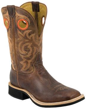 Tony Lama Tan Goat Cowboy Crepe Boots - Square Toe , Tan, hi-res