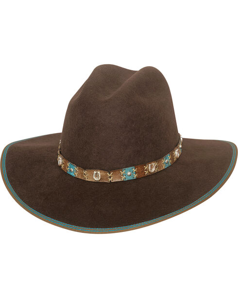 Bullhide Women's Confident Cowgirl Hat , Chocolate, hi-res