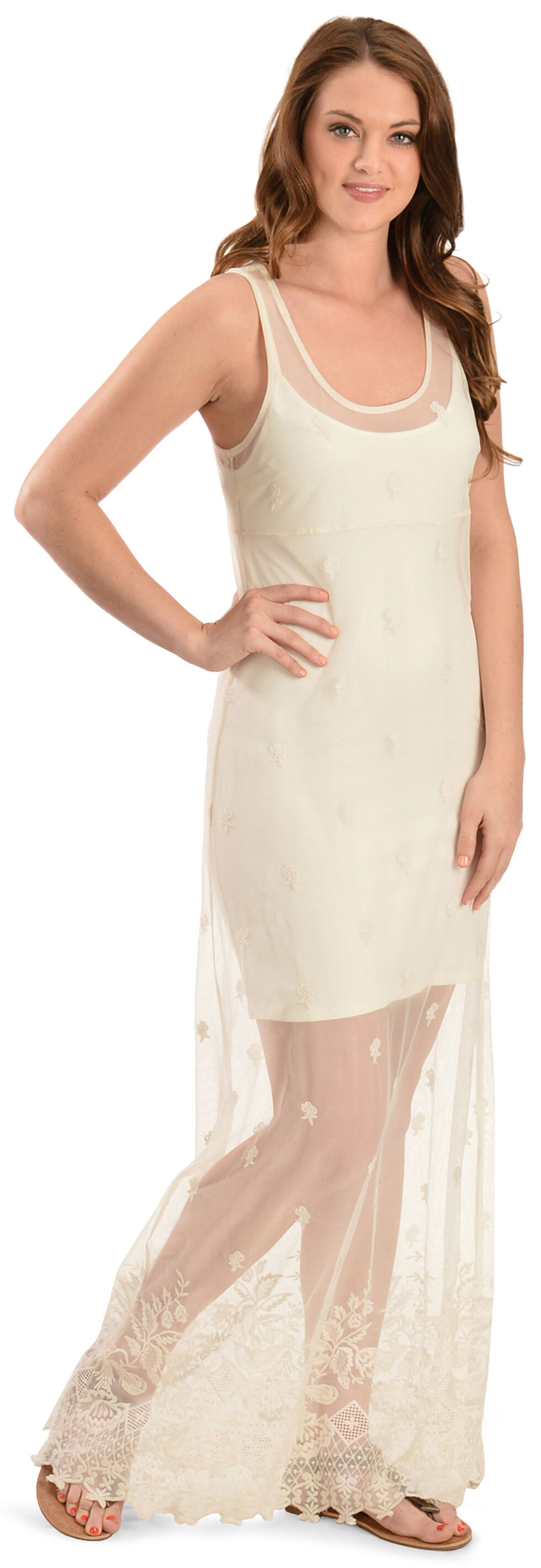 Black Swan Women's Puebla Lace Maxi Dress, Cream, hi-res
