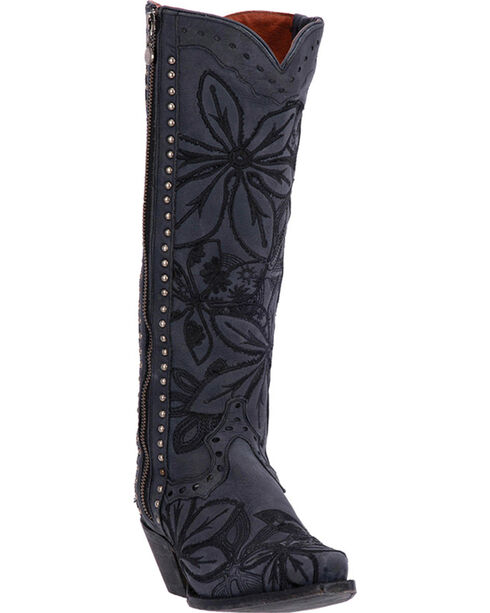 Dan Post Women's Black Embroidered Bombshell Boots - Snip Toe , , hi-res
