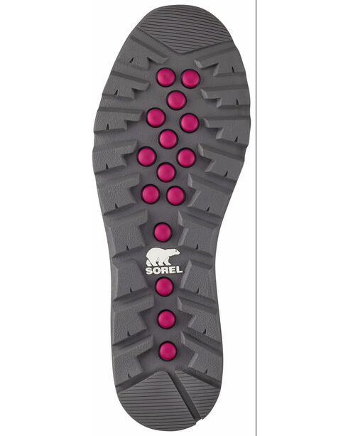Sorel Women's Grey Whitney Short Lace Boots - Round Toe , Grey, hi-res
