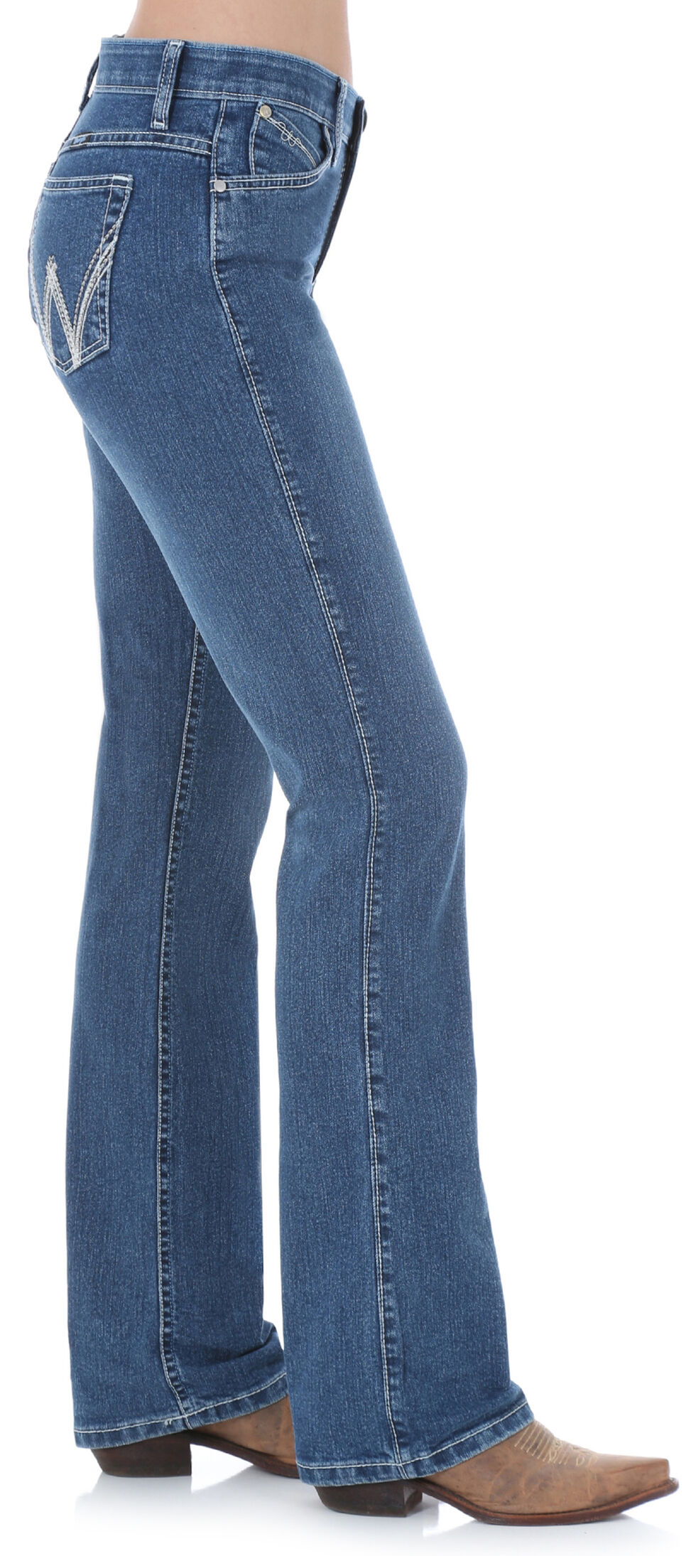 Wrangler Women's Medium Wash Cool Vantage Ultimate Riding Q-Baby Jeans, Denim, hi-res