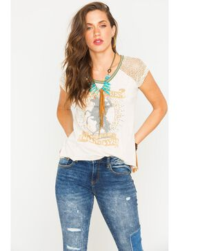 Z Supply Women's My Heroes Are Cowboys Tee, Ivory, hi-res