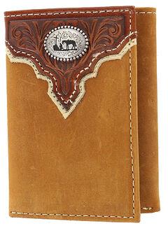 Cody James Men's Praying Cowboy Tri-Fold Leather Wallet, , hi-res