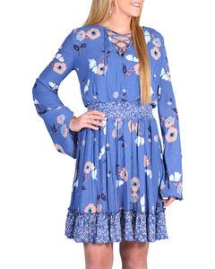 Shyanne Women's Floral Long Sleeve Peasant Dress , Multi, hi-res