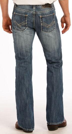 "Rock and Roll Cowboy Raised Denim ""V"" Pistol Jeans - Boot Cut , Indigo, hi-res"